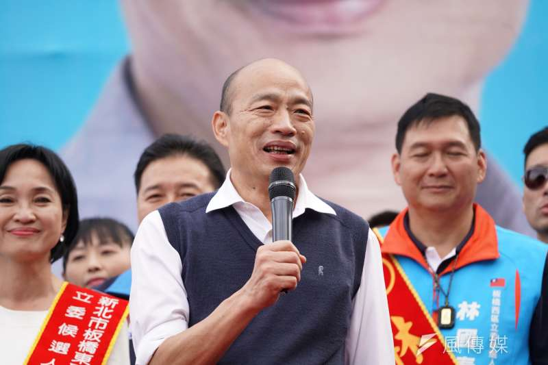 國民黨台南市黨部主委謝龍介7日表示,由於「庶民覺醒」,國民黨總統候選人韓國瑜(見圖)的選情是「倒吃甘蔗」。(資料照,盧逸峰攝)