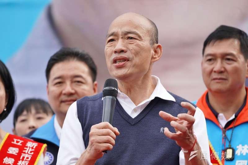 針對武漢肺炎防疫工作,高雄市長韓國瑜31日透露,因擔心疫情大爆發,因此高雄需要一個能將患者「集中收容的地方、營區」,希望國防部能協助。(資料照,盧逸峰攝)