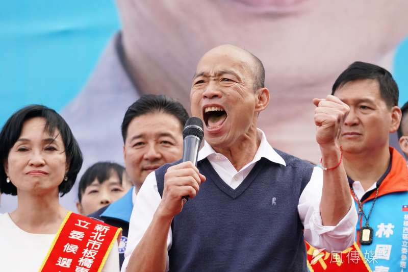 資深媒體人黃暐瀚7日表示,以人口結構來說,如果國民黨總統候選人韓國瑜(見圖)這次敗選,國民黨可能再也不會贏了。(資料照,盧逸峰攝)