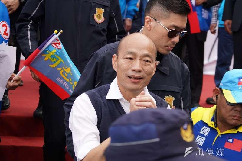 20200105-立委柯志恩5日舉行造勢活動,總統參選人韓國瑜出席。(盧逸峰攝)