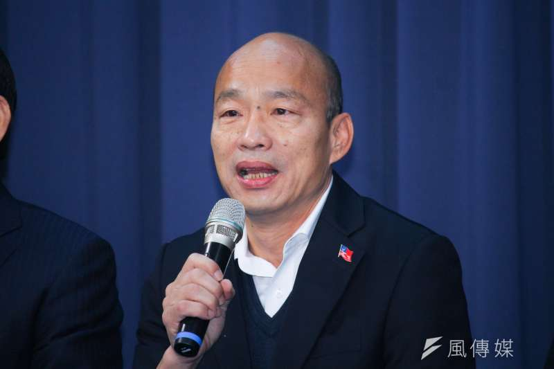 高雄市長韓國瑜(見圖)罷免案投票在即,國民黨內部民調顯示,罷韓支持者也包含淺藍選民。(資料照,蔡親傑攝)