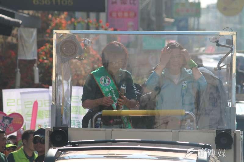 20200107-總統蔡英文7日到雲林陪同立委候選人蘇治芬掃街。(黃信維攝)