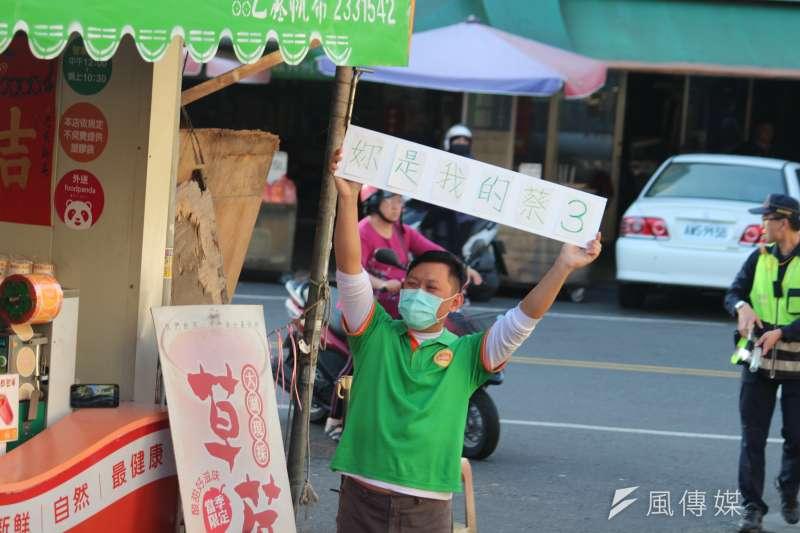 20200107-總統蔡英文7日車隊掃街。(黃信維攝)