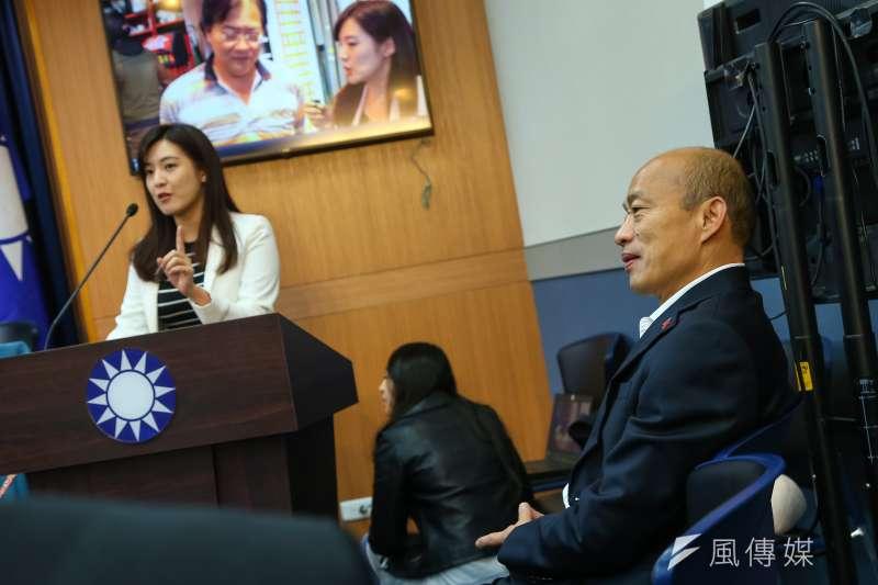20200107-國民黨總統候選人韓國瑜7日出席「只有你想不到,沒有他們做不到!」記者會。(顏麟宇攝)