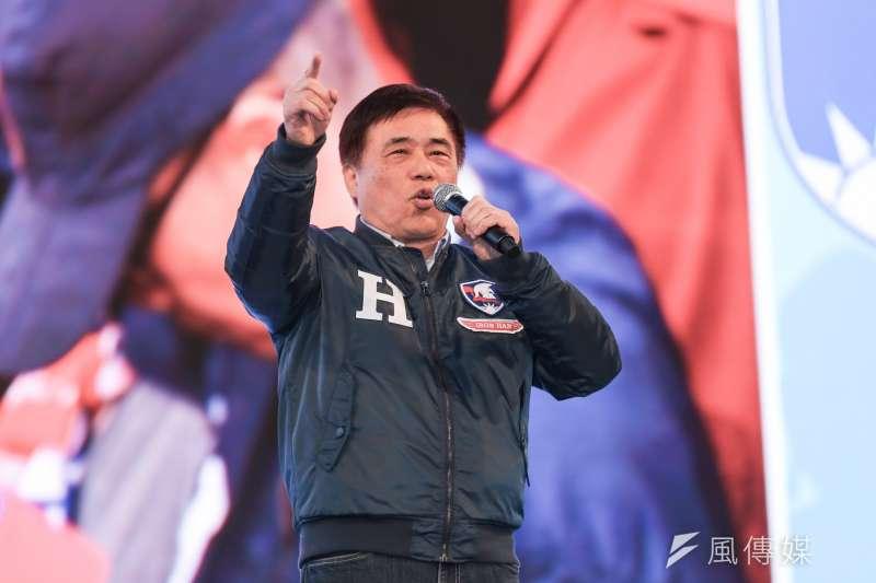 國民黨副主席郝龍斌11日宣布辭去副主席一職。(簡必丞攝)