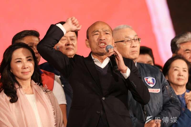 罷免高雄市長韓國瑜(見圖)通過第一階段提案,發起團體19日宣布,將在農曆新年初五、1月29日正式成立高雄總部 ,開始進行第二階段連署作業。(資料照,簡必丞攝)