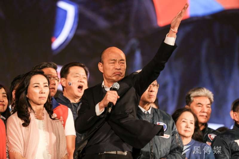 國民黨在2020大選中總統、立委大敗,黨內改革聲浪四起,高雄市長韓國瑜(見圖)競選黨主席的呼聲極高。(資料照,簡必丞攝)