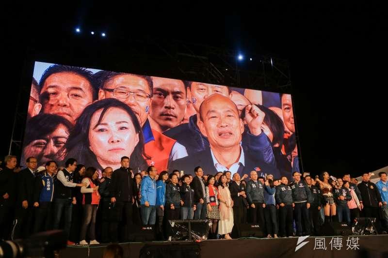 韓國瑜敗選,「戰役」却還沒結束。(簡必丞攝)