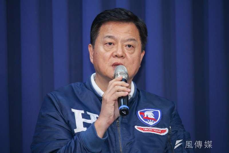 韓國瑜全國競選總部副總幹事周錫瑋(見圖)表示,親民黨總統候選人宋楚瑜沒有希望當選,呼籲宋楚瑜的支持者不要支持他。(蔡親傑攝)