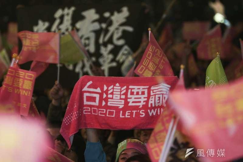 總統蔡英文競選連任開票之夜。(簡必丞攝)