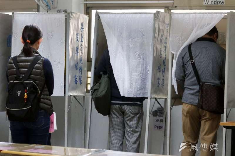 20200111-「2020年總統、副總統暨立委選舉」上午登場,圖為民眾前往投票一景。(蘇仲泓攝)