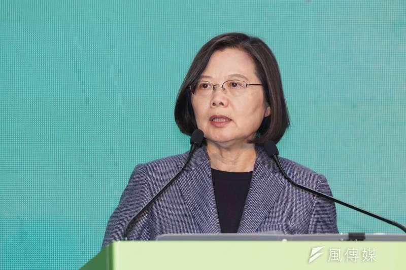 20200111-蔡英文競選總部於11日召開國際記者會,蔡英文發表談話。(盧逸峰攝)