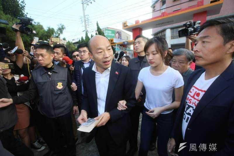 年輕選民完全不能接受韓國瑜。(柯承惠攝)