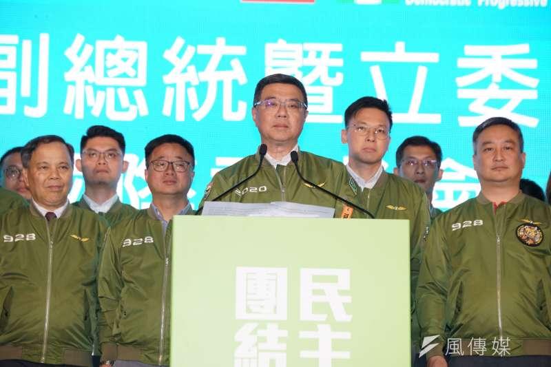 20200111-民進黨主席卓榮泰於11日召開國際記者會。(盧逸峰攝)