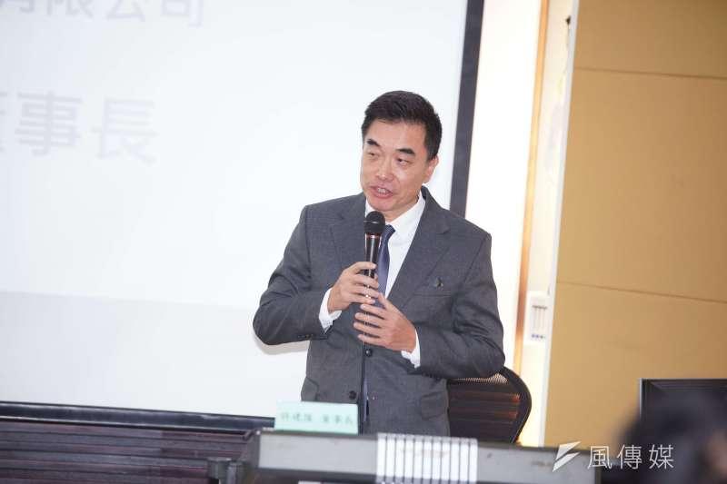 20200113-中國大陸經濟研究學會13日舉行「2020台灣總統大選後的未來兩岸經貿發展」座談會,關貿網路董事長許建隆出席。(盧逸峰攝)