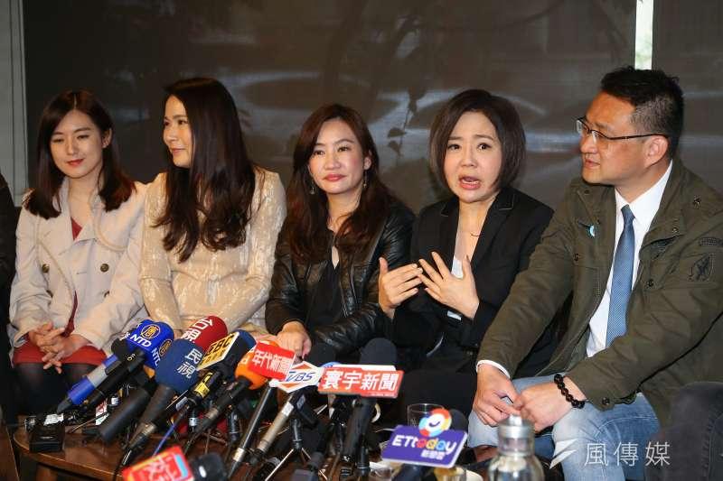 20200114-宋競辦發言人于美人14日邀請各陣營發言人茶敘。(顏麟宇攝)