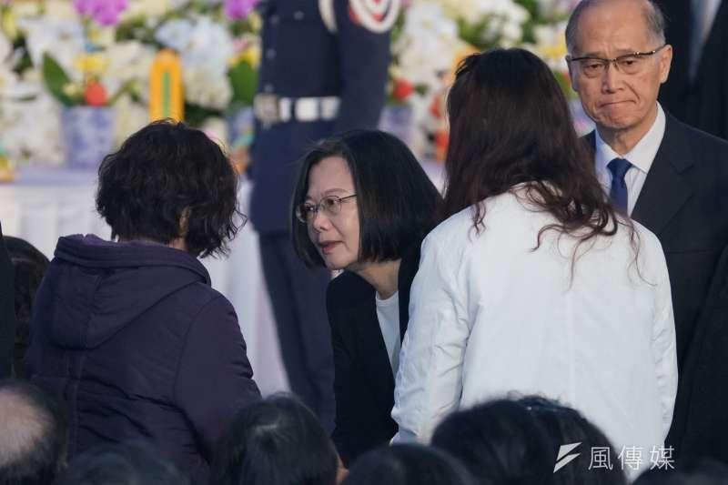 20200114-國防部14日舉行0102殉職將士聯合公奠,總統蔡英文出席。(盧逸峰攝)