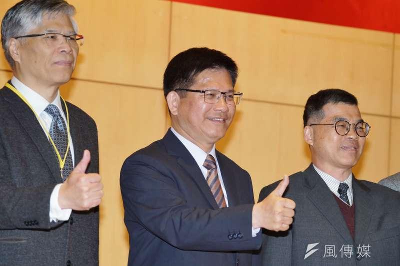 20200114-交通部長林佳龍14日出席「交通部運輸研究所重點研究策勵」研討會。(盧逸峰攝)