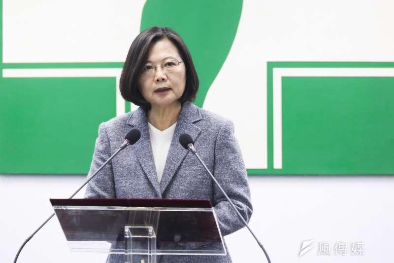 20200115-總統蔡英文15日出席民進黨中常會。(簡必丞攝)