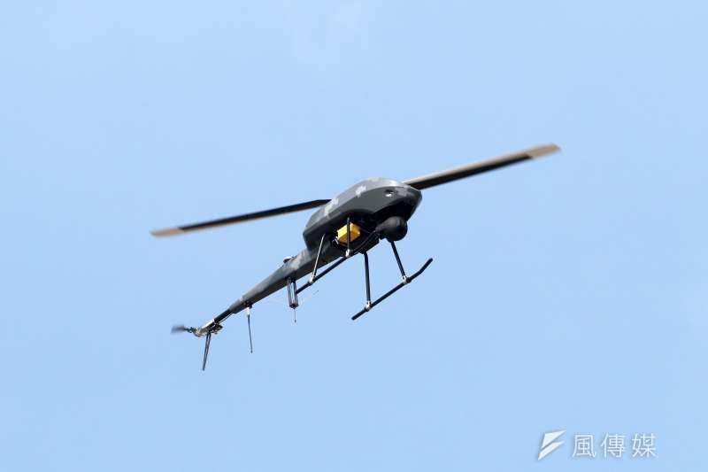 20200115-國軍「聯合兵種營」15日進行反特攻作戰操演,圖為我軍用來偵搜敵軍的無人機。(蘇仲泓攝)