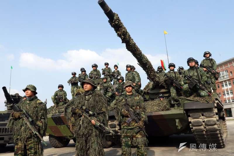 國軍「聯合兵種營」進行反特攻作戰操演。(蘇仲泓攝)