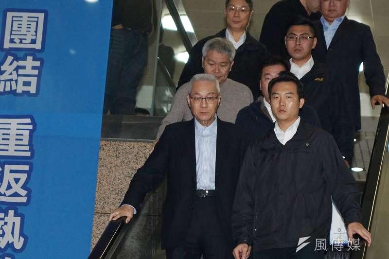 吳敦義已辭去黨主席,未來誰接任仍有待黨內競爭或協調。(資料照片,盧逸峰攝)
