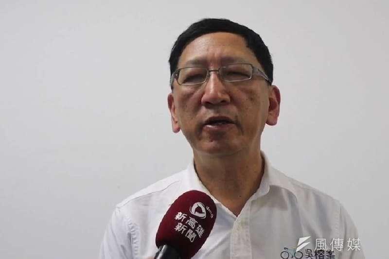 高雄市教育局長吳榕峯受訪。(圖/徐炳文攝)