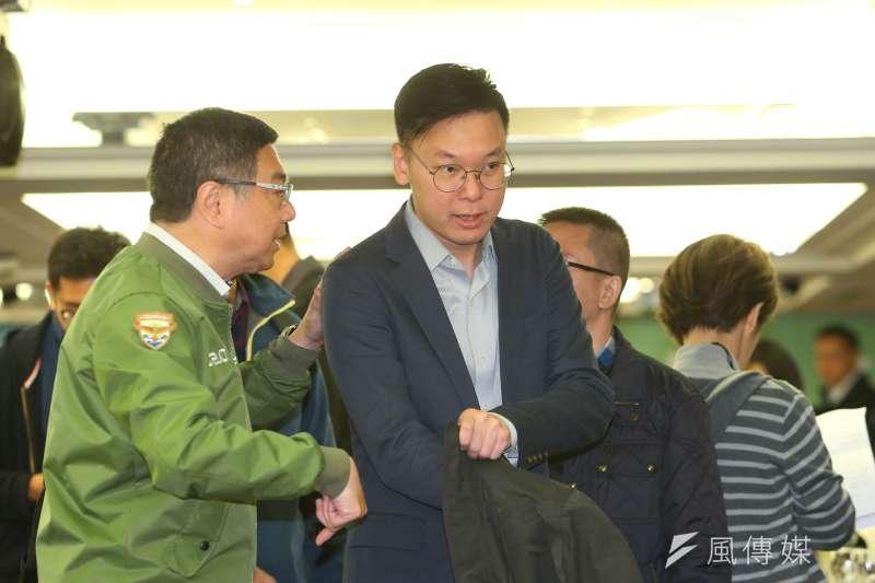 20200117-民進黨副秘書長林飛帆17日出席民主進步黨感恩餐會。(顏麟宇攝)
