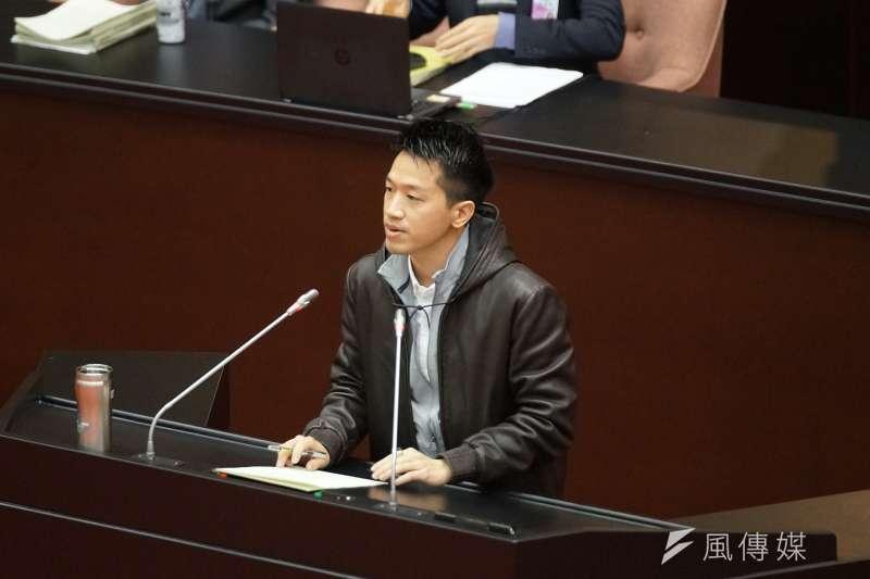 20200120-立委何志偉20日於立院院會發言。(盧逸峰攝)