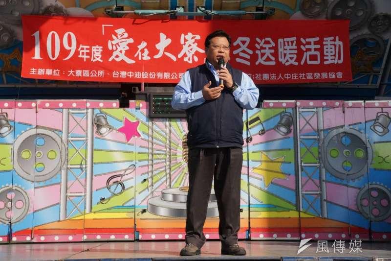 台灣中油公司執行長徐漢率領團隊響應「愛在大寮、寒冬送暖」活動。(圖/徐炳文攝)