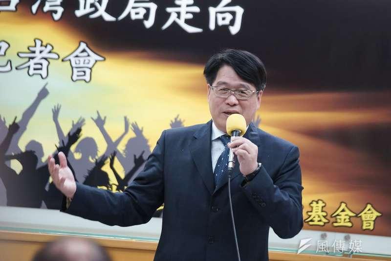 新冠肺炎衝擊兩岸關係,台灣民意基金會董事長游盈隆(見圖)擔憂,兩關係將因此進入最不安的階段。(資料照,盧逸峰攝)