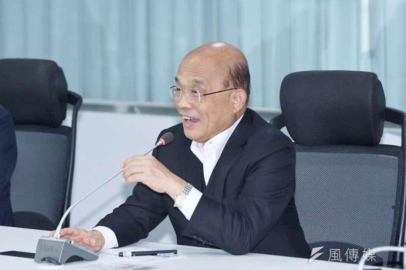 20200121-行政院長蘇貞昌21日視察公路總局應變中心。(盧逸峰攝)