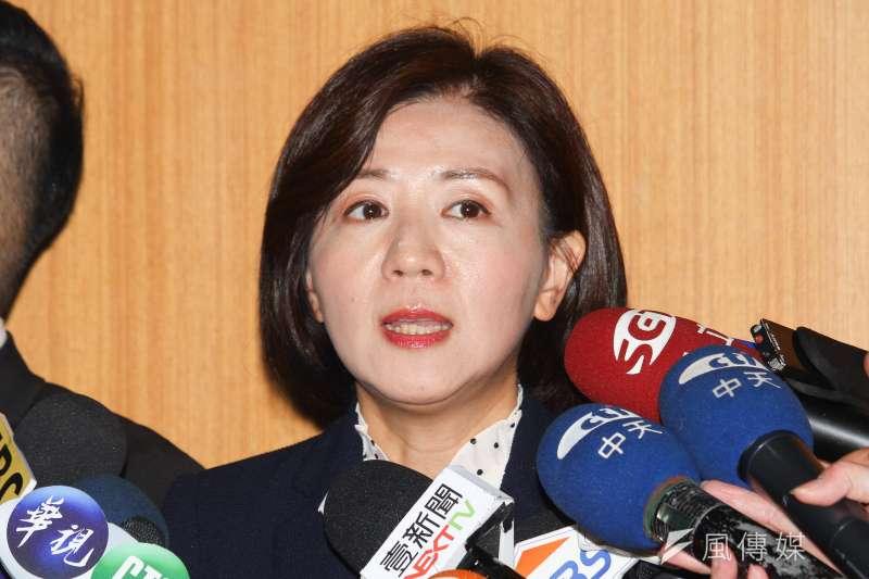 國民黨文傳會代理主委王育敏(見圖)3日表示,認為政府應公開口罩具體數據。(資料照,蔡親傑攝)