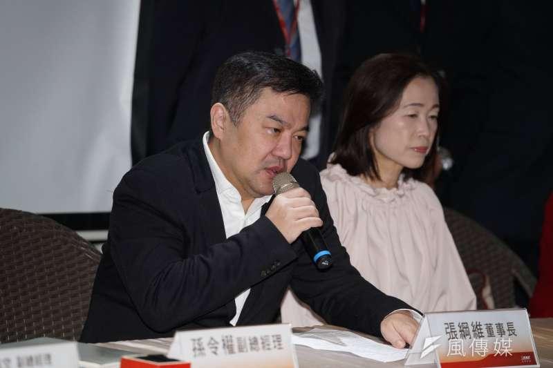 20200122-遠東航空22日召開記者會,董事長張綱維發言。(盧逸峰攝)