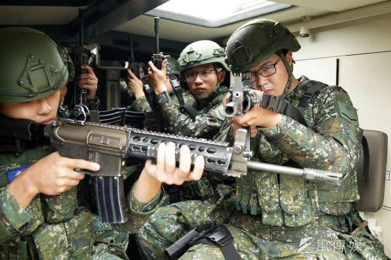 20200126-正當多數國人在家歡度年節之際,憲兵239營仍持續進行戰備任務訓練。(軍聞社提供)