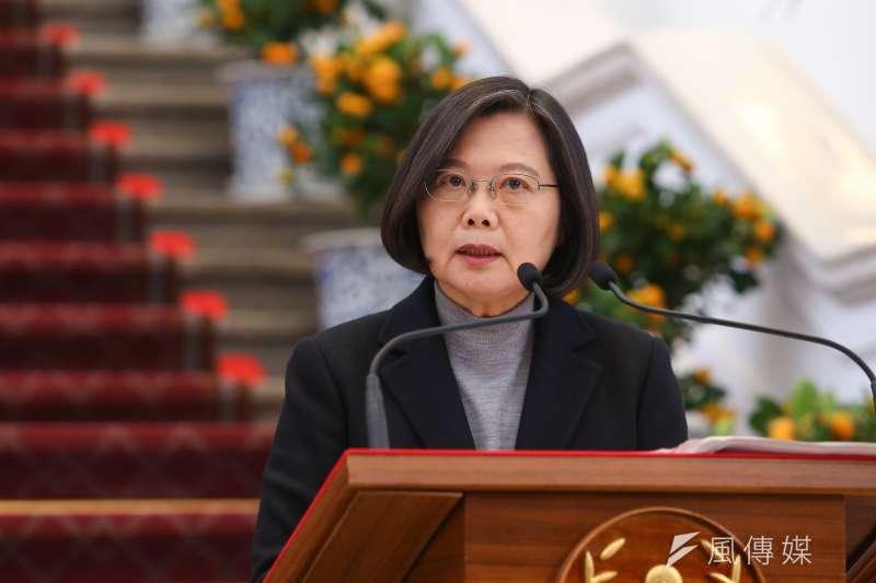 據台灣民意基金會公布的最新民調顯示,民進黨支持度達41.1%,正式確立台灣「1大3小」的政黨體系。圖為總統蔡英文。(資料照,顏麟宇攝)