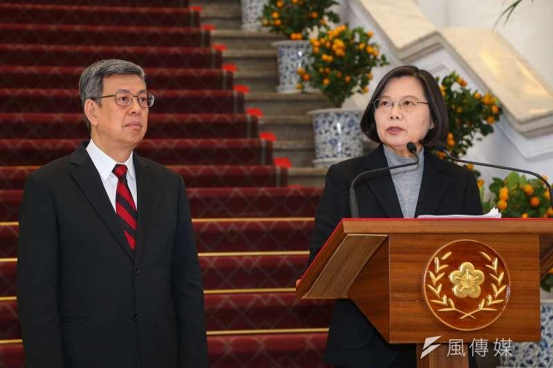 總統蔡英文30日針對武漢肺炎疫情發表談話。(顏麟宇攝)