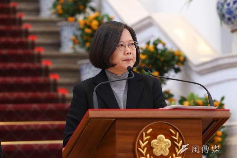 20200130-總統蔡英文30日針對武漢肺炎疫情發表談話。(顏麟宇攝)