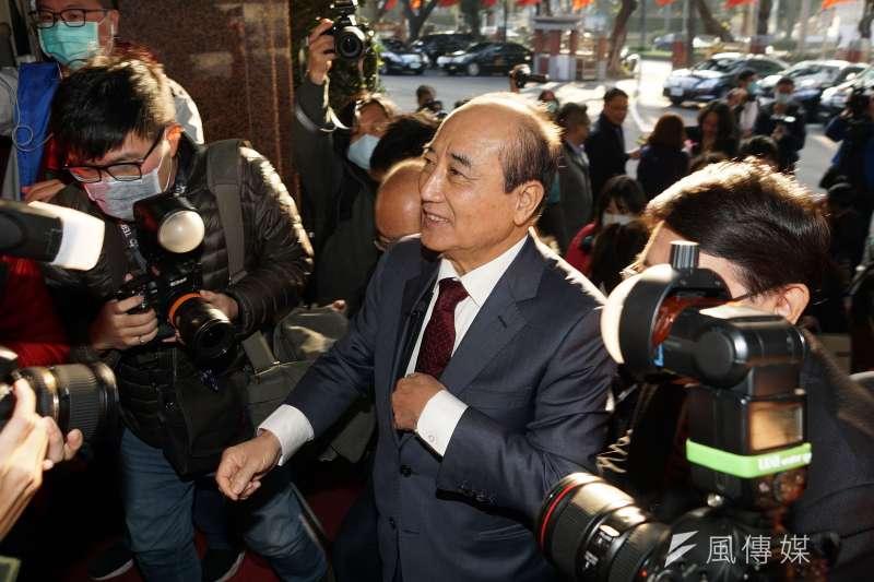 國民黨上周二宣布將由前立法院長王金平率團出席海峽論壇,這個周一就宣布不出團了。(盧逸峰攝)