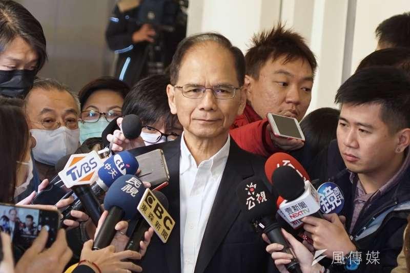 民進黨立院黨團30日舉行新一屆立法院黨團籌備會,立委游錫堃出席。(盧逸峰攝)