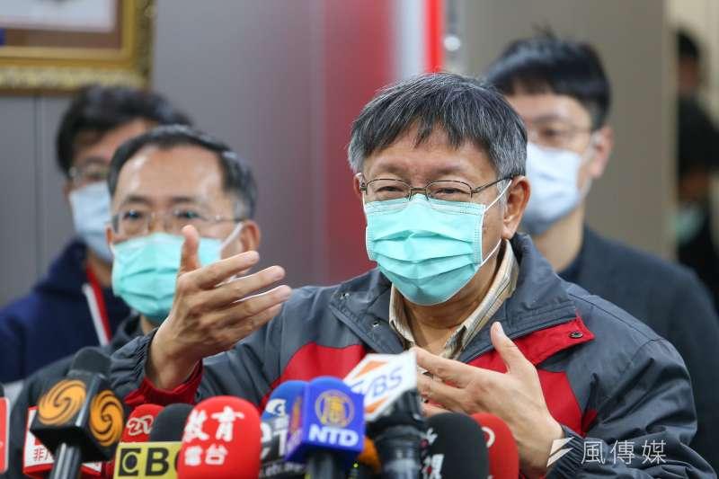 針對武漢肺炎疫情延燒,台北市長柯文哲(見圖)表示,未來一周將是台灣防疫的危及期。(顏麟宇攝)