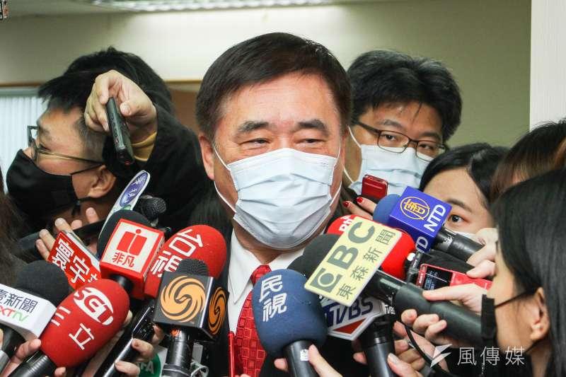 20200130-國民黨前副主席郝龍斌出席國民黨新春團拜。(蔡親傑攝)