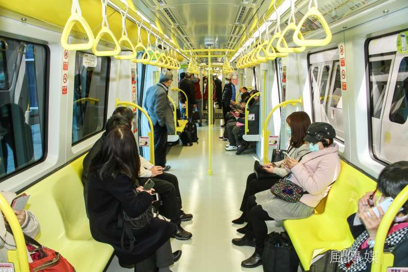 新北環狀線捷運31日通車。(蔡親傑攝)