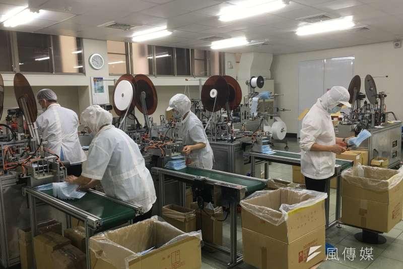 扶星企業股份有限公司口罩廠照片。(圖/徐炳文攝)