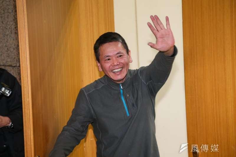 國民黨立委林為洲31日出席出席新科立委座談,並當選立院黨團新任總召。(顏麟宇攝)