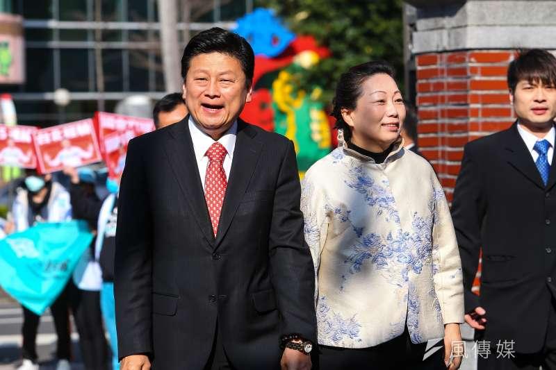 20200201-無黨籍立委傅崐萁1日至立院報到。(顏麟宇攝)