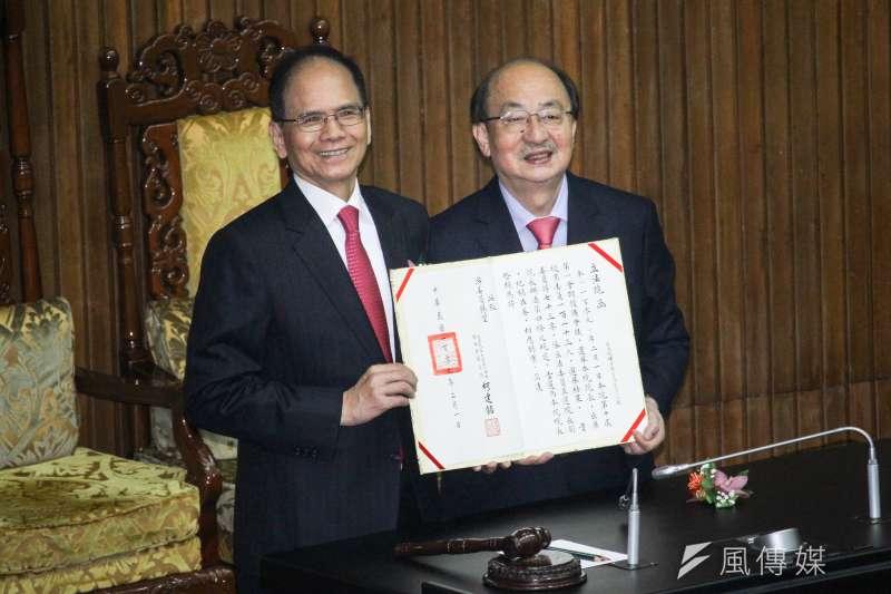 20200201-立法院舉行新任正副立法院長選舉,民進黨立委游錫堃當選立法院長。(蔡親傑攝)