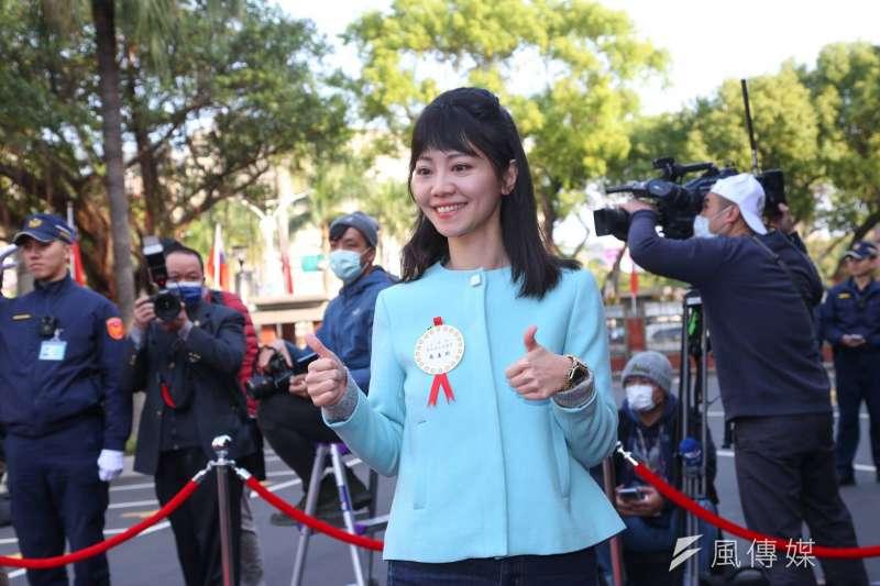 20200201-立法院第十屆立委1日宣誓就職,民進黨立委高嘉瑜出席。(顏麟宇攝)