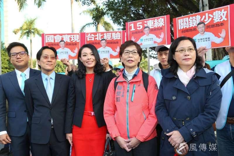 20200201-立法院第十屆立委1日宣誓就職,民眾黨5位新科立委一同出席。(顏麟宇攝)