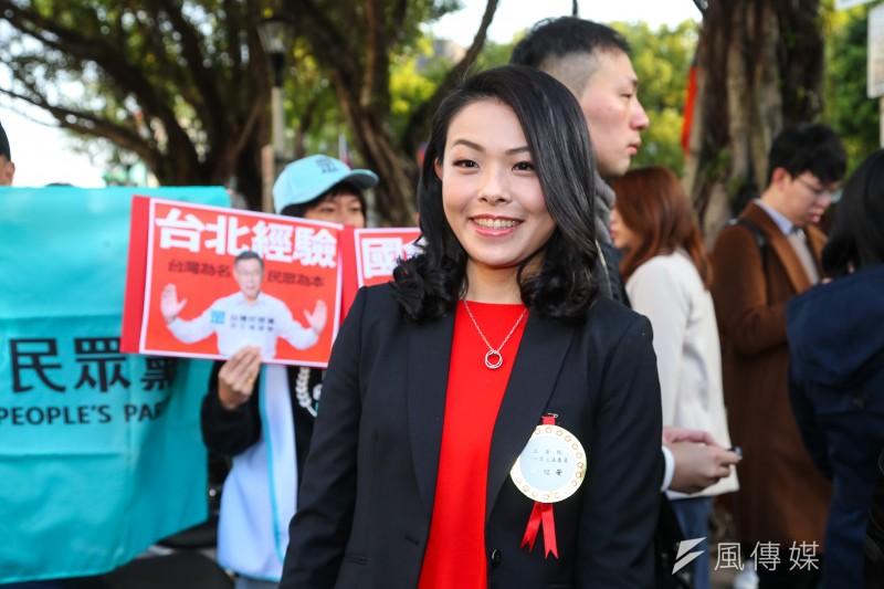 20200201-民眾黨立委高虹安1日至立院報到。(顏麟宇攝)
